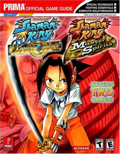 Books About Video Games - Shaman King: Master of Spirits (GBA) and Power of the Spirits (PS2) (Prima Offic