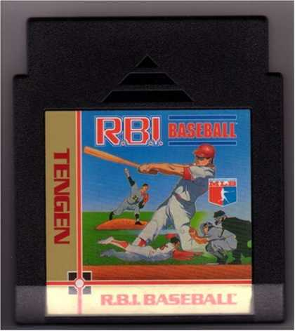 Books About Video Games - R.B.I. BASEBALL VIDEO GAME (NINTENDO NES 8-BIT VIDEO GAME CARTRIDGE VERSION) (TE
