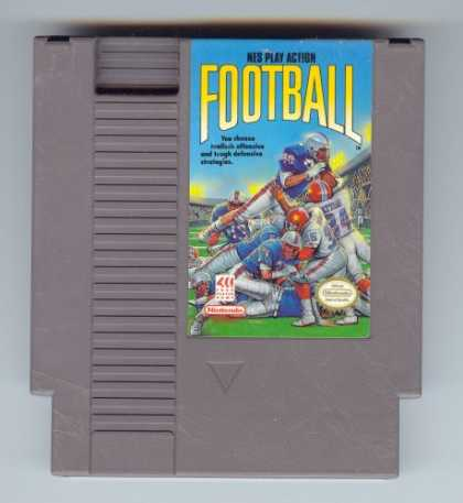 Books About Video Games - NES PLAY ACTION FOOTBALL VIDEO GAME (NES NINTENDO 8-BIT VIDEO GAME CARTRIDGE) (N