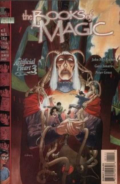 Books of Magic 11 - Tim Hunter - Artificial Heart - Fairy - Pipes - Oberon - Charles Vess