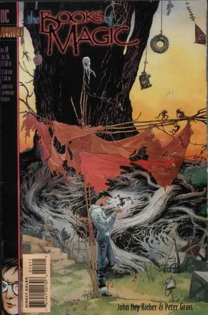 Books of Magic 14 - Vertigo - Man - Tree - Tire - Direct Sales - Charles Vess