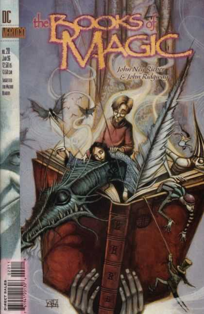 Books of Magic 20 - The Books Of Magic - John Neyrieber U0026 John Ridgway - Dc Comics - Dragon - Magic Book