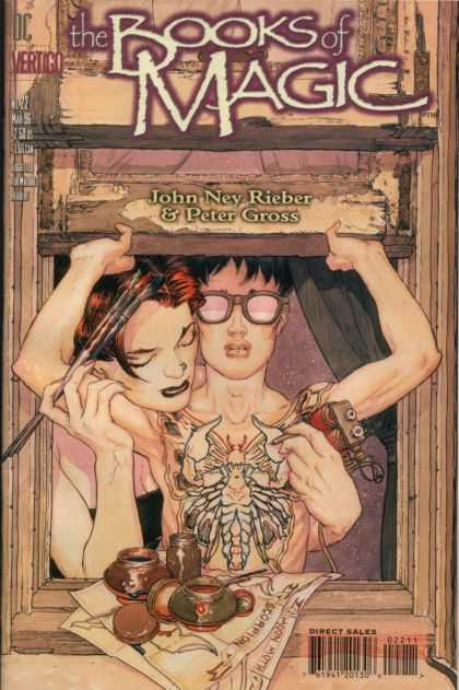 Books of Magic 22 - Dc - Vertigo - John New Rieber - Peter Gross - Direct Sales - Michael Kaluta