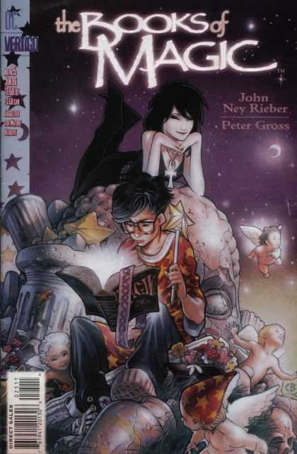 Books of Magic 25 - Stars - Magic Wand - Book - Moon - Angels - Chris Bachalo