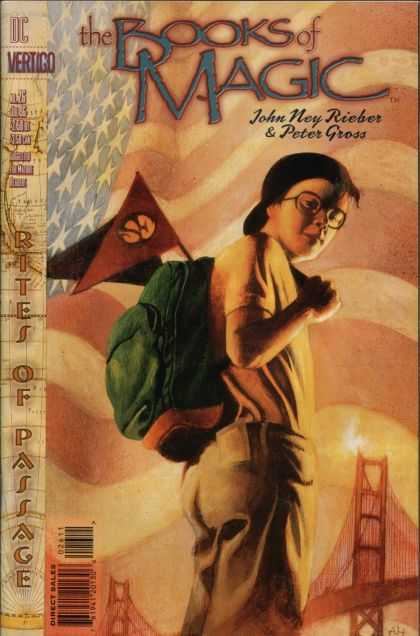 Books of Magic 26 - Flag - Bag - One Boy - John Noy Rieber - Peter Gross
