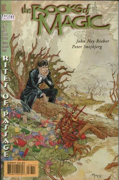 Books of Magic 36 - Rites Of Passage - John Ney Rieber - Peter Snejbjerg - Tuxedo - Top Ship - Michael Kaluta