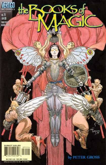 Books of Magic 71 - Fairies - Armor - Shield - Swords - Minions - Michael Kaluta