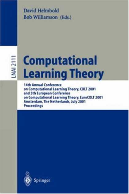 Books on Learning and Intelligence - Computational Learning Theory: 14th Annual Conference on Computational Learning