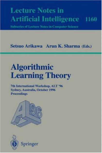 Books on Learning and Intelligence - Algorithmic Learning Theory: 4th International Workshop on Analogical and Induct