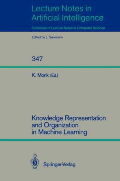 Books on Learning and Intelligence - Knowledge Representation and Organization in Machine Learning (Lecture Notes in