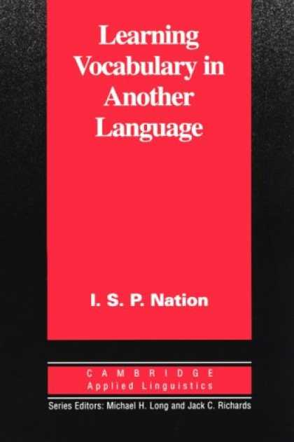 Books on Learning and Intelligence - Learning Vocabulary in Another Language (Cambridge Applied Linguistics)