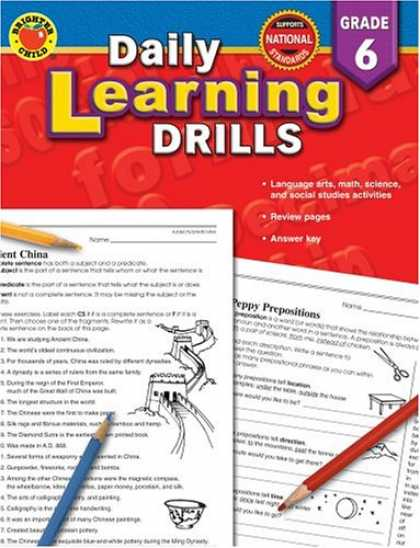 Books on Learning and Intelligence - Daily Learning Drills Grade 6