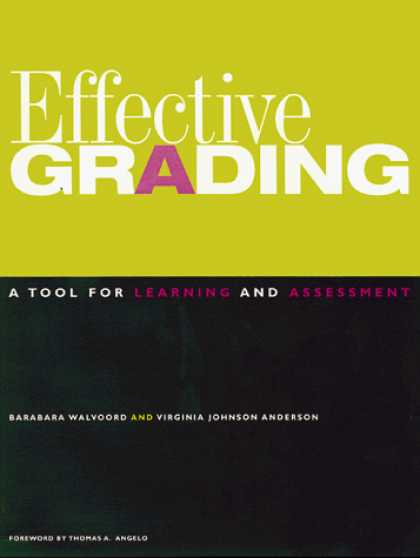 Books on Learning and Intelligence - Effective Grading: A Tool for Learning and Assessment (Jossey Bass Higher and Ad