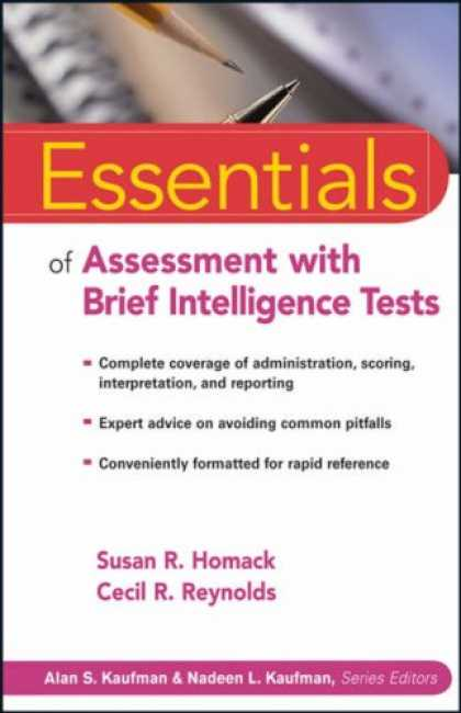 Books on Learning and Intelligence - Essentials of Assessment with Brief Intelligence Tests (Essentials of Psychologi