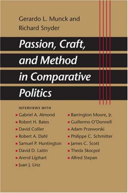 Books on Politics - Passion, Craft, and Method in Comparative Politics