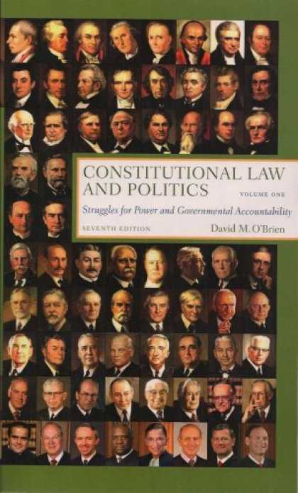 Books on Politics - Constitutional Law and Politics: Struggles for Power and Governmental Accountabi
