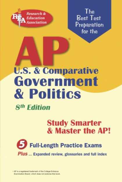 Books on Politics - AP U.S. & Comparative Government & Politics (REA) - The Best Test Prep for the A