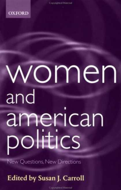 Books on Politics - Women and American Politics: New Questions, New Directions (Gender and Politics