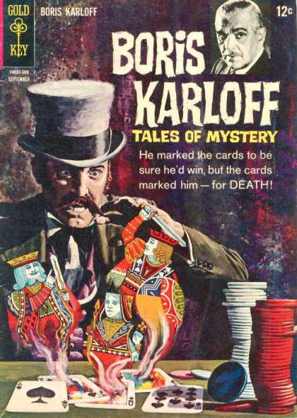 Boris Karloff Tales of Mystery 11 - Gold Key - Cards - Death - Horror - Chips
