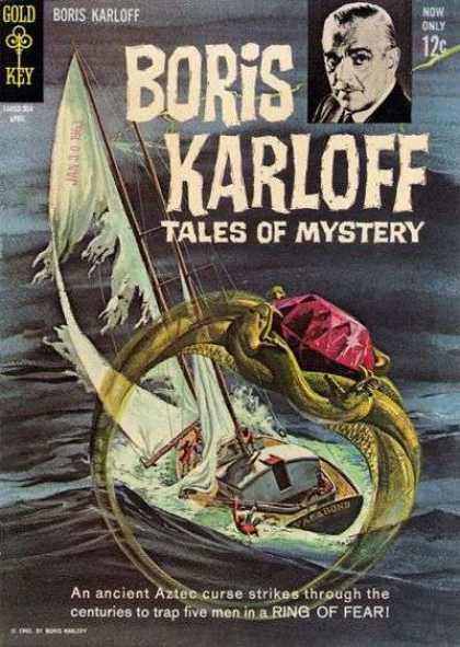 Boris Karloff Tales of Mystery 3 - Ring Of Fear - Sailboat - Ring - Ruby - Spooky