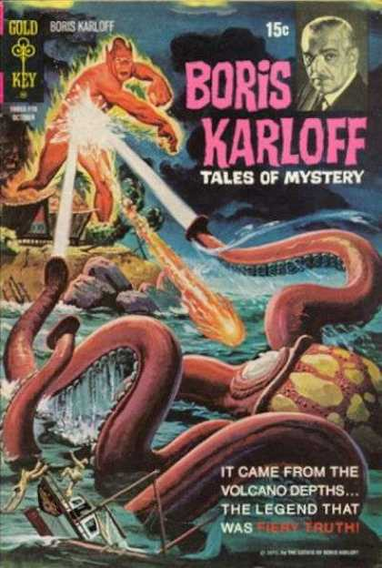 Boris Karloff Tales of Mystery 37 - Giant Squid - Volcano - Ocean - Fiery Truth - Creature