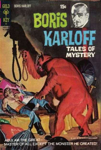 Boris Karloff Tales of Mystery 38 - Gold Key - Abulam The Great - Master Of All Except The Monster He Created - Devil - Noose