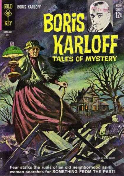 Boris Karloff Tales of Mystery 4 - Gold Key - Old Lady - Lamp - Something From The Past - Ruins