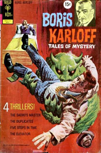 Boris Karloff Tales of Mystery 40 - Gold Key - Thrillers - The Sadikts Master - The Duplicates - The Elevator