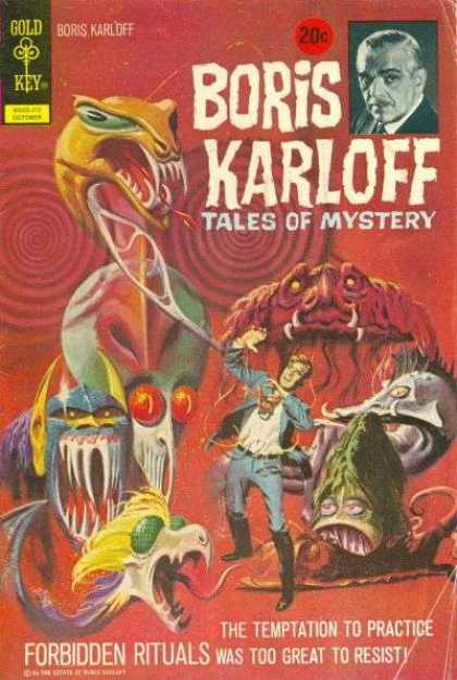 Boris Karloff Tales of Mystery 43 - Gold Key - Temptation - Aliens - Monsters - Rituals