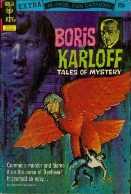 Boris Karloff Tales of Mystery 44 - Red Bird - Golden Key - Spinx Head - Man Falling - Boris