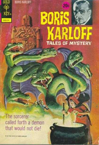 Boris Karloff Tales of Mystery 45 - Gold Key Comics - Mystery - Fantasy - Sorcerer - Demon