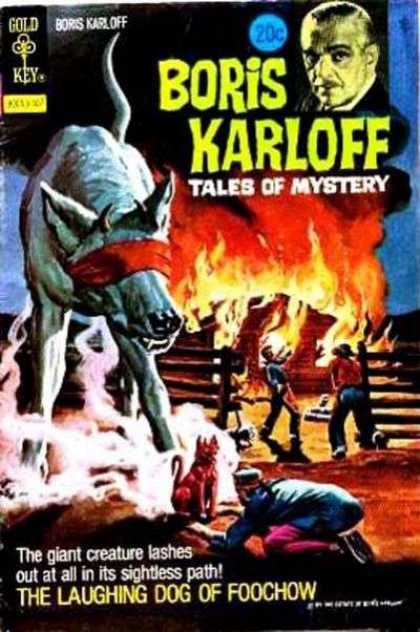 Boris Karloff Tales of Mystery 48 - The Laughing Dog Of Foochow - Boris Karloff - Tales Of Mystery - Gold Key - Blindfolded Dog
