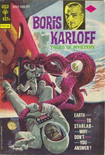 Boris Karloff Tales of Mystery 56 - Starlab - One Eyed Monster - Tentacles - Space Suits - Outer Space