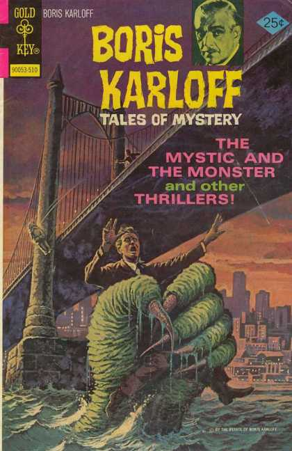 Boris Karloff Tales of Mystery 64 - Bridge - River - Man - Monster - Hand