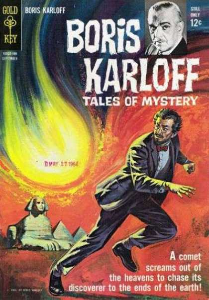 Boris Karloff Tales of Mystery 7 - Gold Key - Fire - Sphinx - Pyramid - Eye Glasses