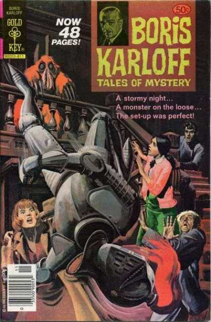 Boris Karloff Tales of Mystery 86 - Stormy Night - Monster On The Loose - Set-up - Red Hairy Creature - Child In Pink Sweater