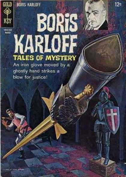 Boris Karloff Tales of Mystery 9 - Actor - Suit Of Armor - Shield - Boots - Sword