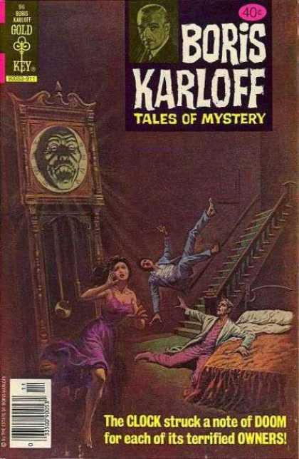 Boris Karloff Tales of Mystery 96 - Clock - Stairs - Bed - Man Falling Down Stairs - The Clock Struck A Note Of Doom