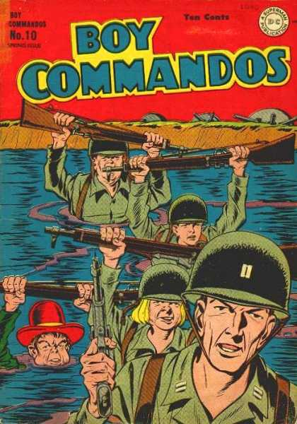 Boy Commandos 10 - Boy Commandos - Guns - Water Boat - Helmets - Soldiers