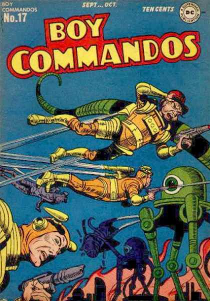 Boy Commandos 17 - War Comics - Aliens - Jet Packs - Invasion - Science Fiction - Jack Kirby