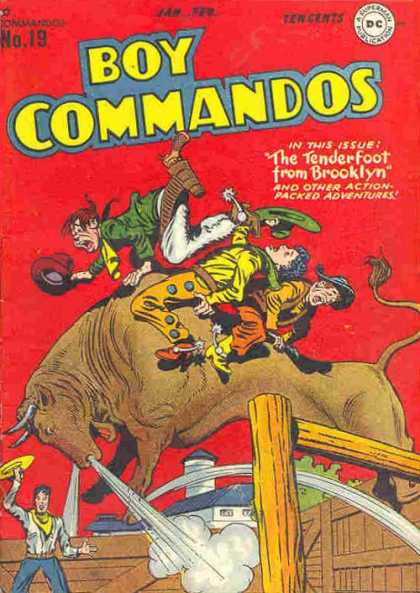 Boy Commandos 19 - Bull - Spurs - Fence - Brooklyn - Tenderfoot - Jack Kirby