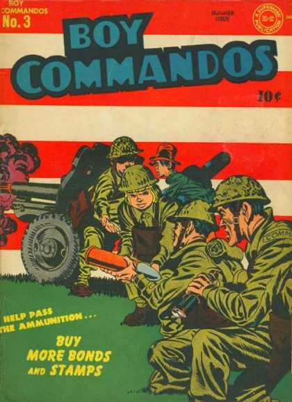 Boy Commandos 3 - Guns - Hads - Ammo - Wheels - Stripes - Jack Kirby, Joe Simon