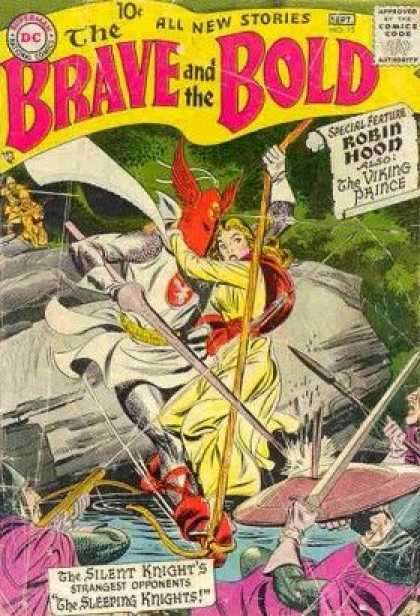 Brave and the Bold 13 - All New Stories - Robin Hood - Comics Code - Knight - Woman - Jerry Ordway
