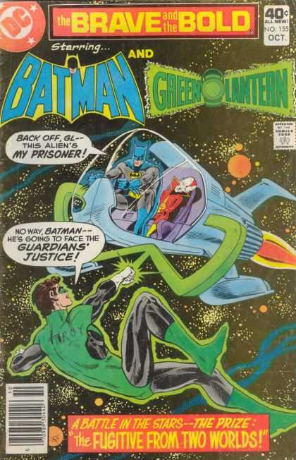 Brave and the Bold 155 - Batman - Green Lantern - Team Fighting - The Guardian - Face Off - Jim Aparo