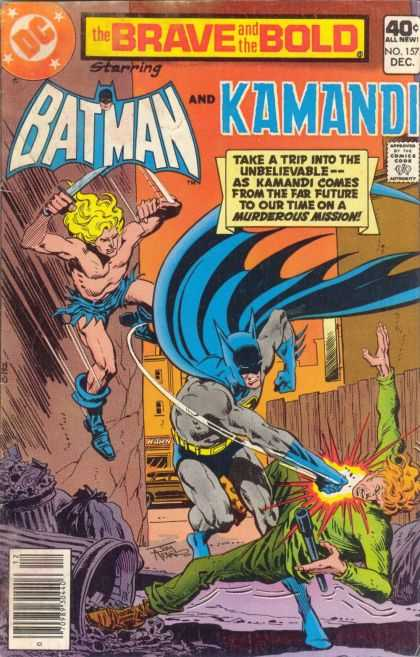 Brave and the Bold 157 - Batman - Kamandi - Trash - Weapon - Blonde Hair - Jim Aparo