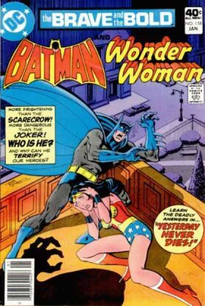 Brave and the Bold 158 - Batman - Wonder Woman - Scarecrow - Joker - Yesterday Never Dies - Jim Aparo