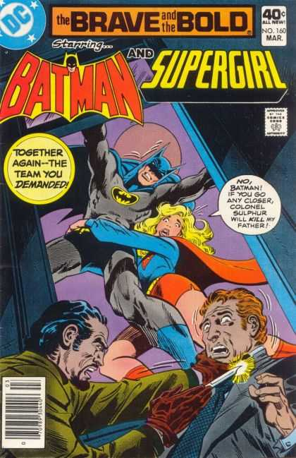 Brave and the Bold 160 - Batman - Supergirl - Colonel Sulpher - Father - Villian - Jim Aparo