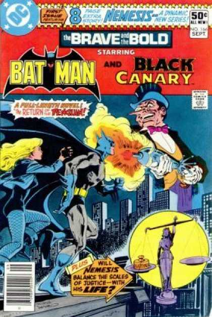 Brave and the Bold 166 - Batman - Black Canary - Penguin - Justice - Scales - Jim Aparo