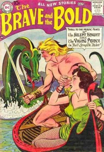 Brave and the Bold 17 - Silent Knight - Viking Prince - Sea Serpent - Sword - Boat