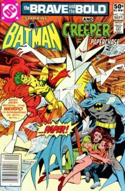 Brave and the Bold 178 - Batman - Creeper - Paperchase - Explosion - Crystals - Dick Giordano, Richard Buckler